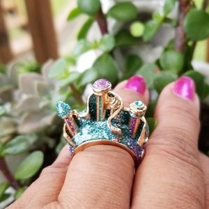 💍 🏰  Disney Ariel Castle 🏰  3D Ring 💍 Size  7